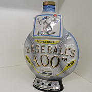 Vintage - Decanter - Professional Baseball's 100th!  1869 - 1969