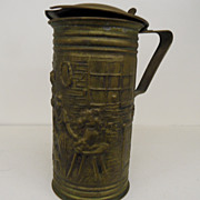 SOLD Vintage - Stamped Brass Beer Mug