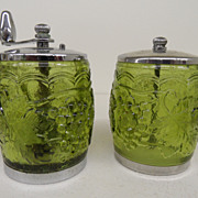 Vintage - Glass - Pepper Grinder and matching Shaker