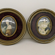 Vintage - Pair of Cameo Pictures - George Romney