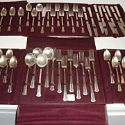 Vintage - Silver Plate - Rogers - Service for 8 with cloth holder