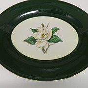 Vintage - Porcelain - Homer Laughlin - Platter -  Jade Rose A55N8