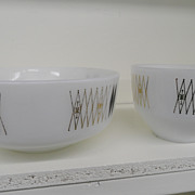 Vintage - Glass - Federal Glass Co. - Set of 2 Mixing Bowls