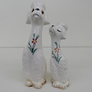 Vintage - Porcelain - Poodles - Salt and Pepper Shakers