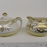 Vintage - Porcelain - Made in Japan - Covered Sugar and Creamer