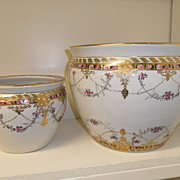 Antique - Porcelain - HUGE Nippon Planter's (2)