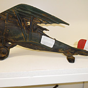Vintage - Cast Iron Door Stop - N142 Plane