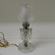 Vintage - EAPG Mantel or Boudouir Lamp w/original Edison Bulb