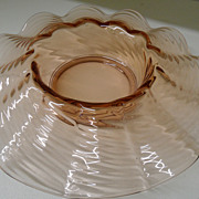 Vintage - Glass - Pink Depression Console Bowl