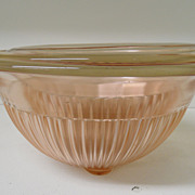 Vintage - Glass - Federal Glass - Set of Three Mixing Bowls