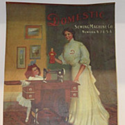 Antique - Calendar - 1906 - Domestic Sewing Machine Company