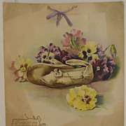 Antique - Calendar - 1906 - Shoes!