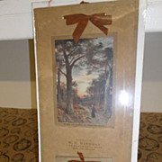 Antique - Calendar - 1912 Gates of the Forest
