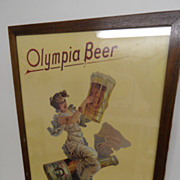 Vintage - Picture - Olympia Beer Sign - Nicely framed!