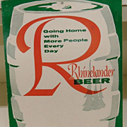 Vintage - Advertisement - Rhinelander Beer