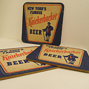 Vintage - Beer Coasters - Schmidts and Rupert Knickerbocker