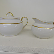 Vintage - Porcelain - Noritake RC Nippon - Creamer and Covered Sugar