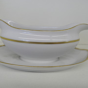 Vintage - Porcelain - Noritake RC Nippon - Gravy with attached Underplate