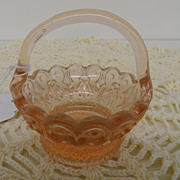 Vintage - Glass - Depression Glass - Pink - Basket