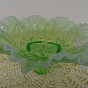 Vintage - Glass - Depression Glass - Green - Serving Bowl
