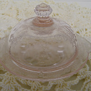 Vintage - Glass - Depression Glass - Covered Plate