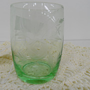 Vintage - Glass - Depression Glass - Green - Glass