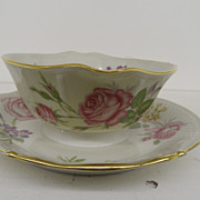 Vintage - Porcelain - Limoges - Gravy with attached Underplate