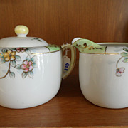 Vintage - Porcelain - Nippon - Creamer and Sugar Set