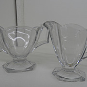 Vintage - Glass - Heisey - Creamer and Sugar