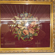 Vintage - Picture - Framed Needlepoint