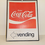 Vintage - Coca Cola Advertising Piece - Vending Sign