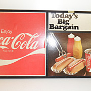 Vintage - Advertising for Coca Cola - Display sign