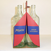 Vintage - Moxie Bottles and Carrier