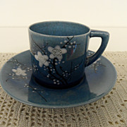 Vintage - Porcelain - Japan - Lustreware Blue Cup and Saucer