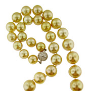 Spectacular Golden Pearl Necklace