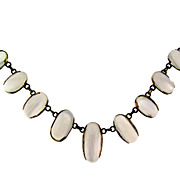 Antique German Gold Moonstone Necklace