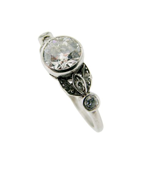 White Gold or Platinum Art Deco Ring?