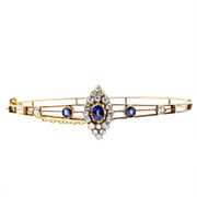 Edwardian Sapphire and Diamond Bangle