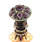 Blackamoor Pendant 14KT Circa 1950
