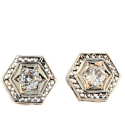 Art Deco 14KT Filigree Diamond Earrings.