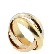 Cartier Tricolour Rolling Ring