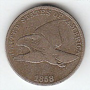 SOLD 1858 Flying Eagle Cent Large Letters Variety VG+