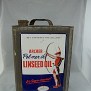 Vintage Archer Oil Company Can Advertisement