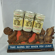 Olympia Beer Sign Advertisement Wood Carving