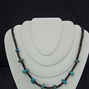 Mexican Turquoise and Beaded Necklace