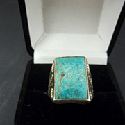 Bell Sterling Men's Turquoise Ring