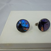 Vintage Butterfly Wings Men's Cuff Links