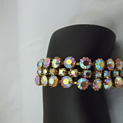 SALE Vintage Prong Set Rhinestone Bracelet/Unsigned Beauty