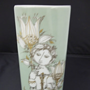 Vintage Rosenthal Vase Handpainted by Bjorn Wiinblad