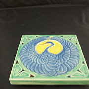 Vintage  Rookwoood Blue/Green Trivet